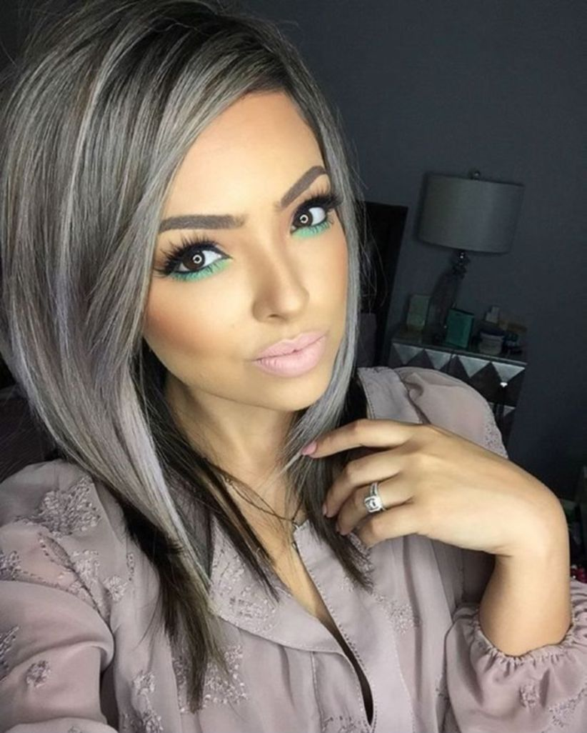 Grey Blue Hair Color Trend For Women 2