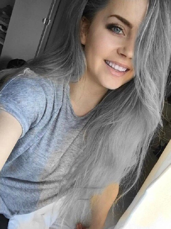 Grey Blue Hair Color Trend For Women 3