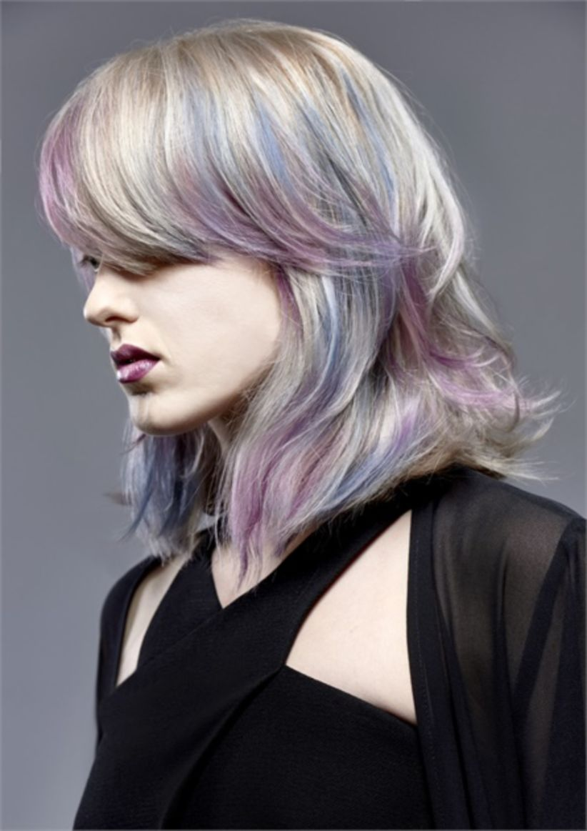 Grey Blue Hair Color Trend For Women 5