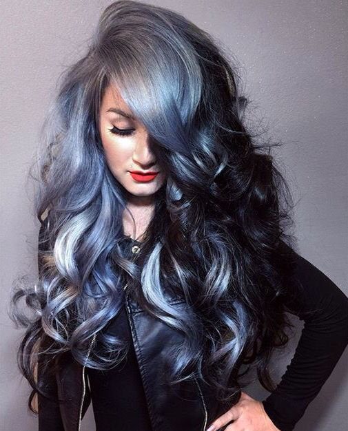 Grey Blue Hair Color Trend For Women 7