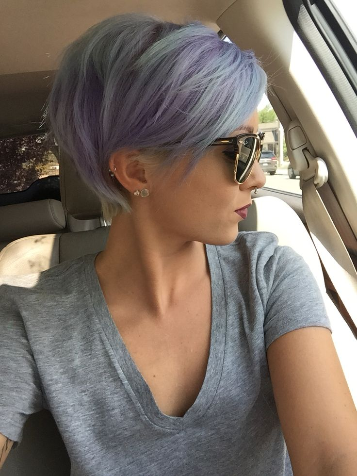Grey Blue Hair Color Trend For Women 8
