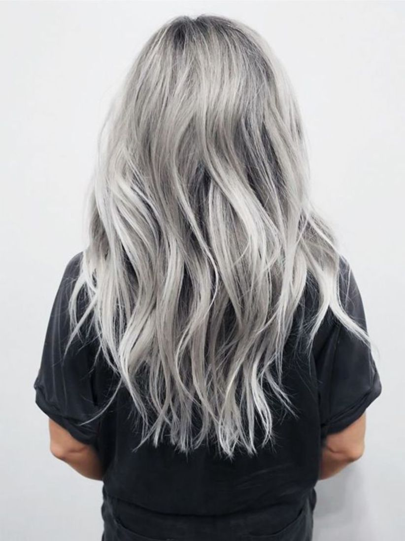 Grey Blue Hair Color Trend For Women