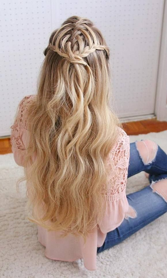 Stylish Waterfall Braid Hairstyles for Women 2018 10