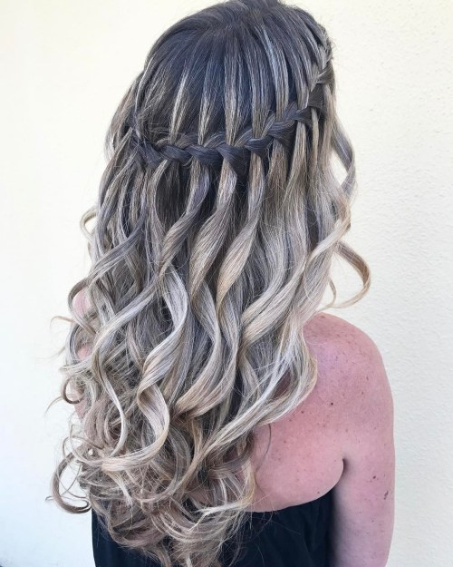 Stylish Waterfall Braid Hairstyles for Women 2018 17