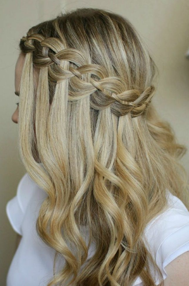 Stylish Waterfall Braid Hairstyles for Women 2018 23