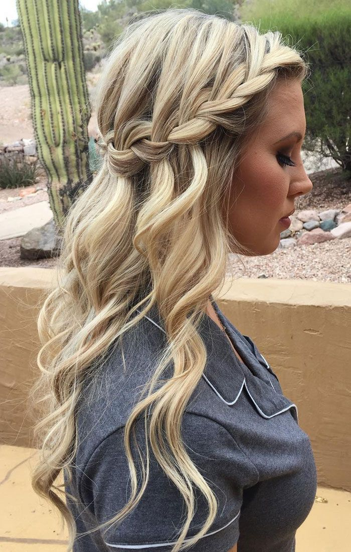 Stylish Waterfall Braid Hairstyles for Women 2018 25