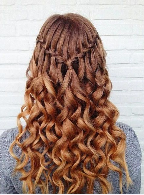 Stylish Waterfall Braid Hairstyles for Women 2018 5