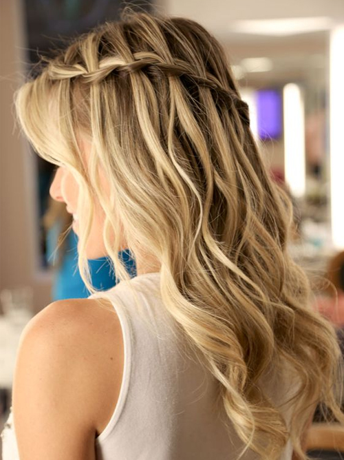 Stylish Waterfall Braid Hairstyles for Women 2018