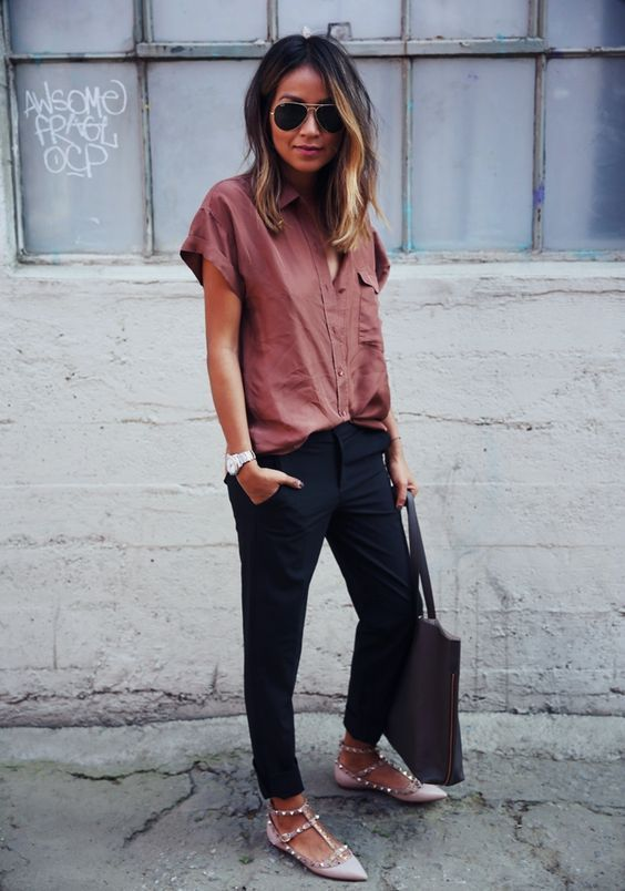 Wedges ideas to wear at office 2018 3
