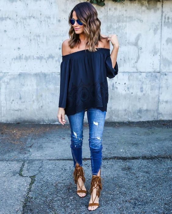 New Trendy Black Jeans Outfits Ideas For Women 3