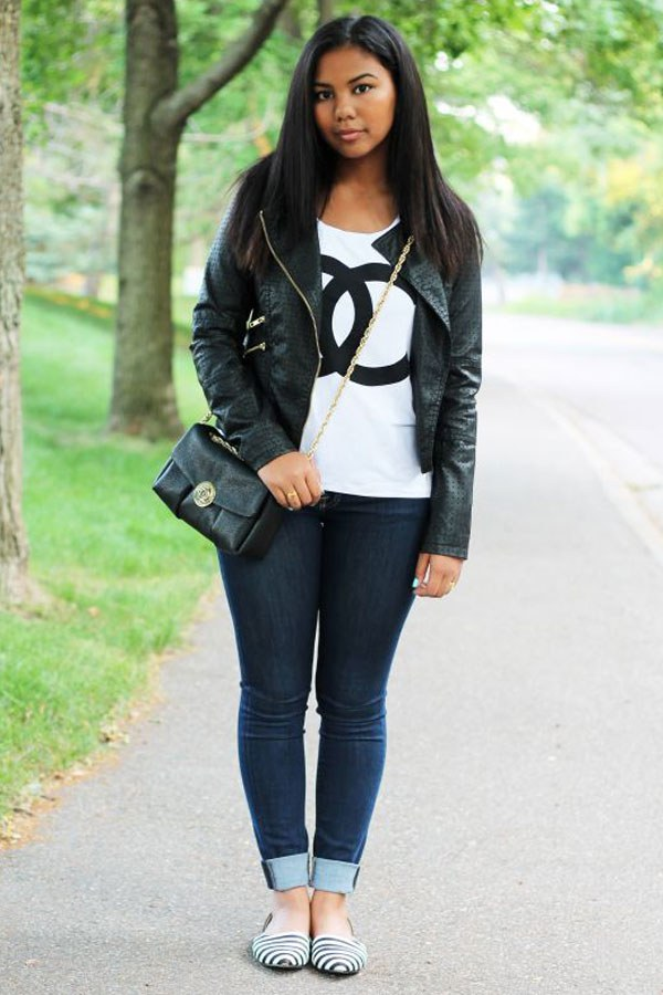 New Trendy Black Jeans Outfits Ideas For Women 8