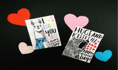 Creative printable valentine's card Feture