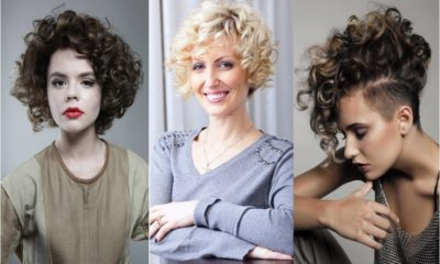 Latest Curly short hairstyles for women Feture