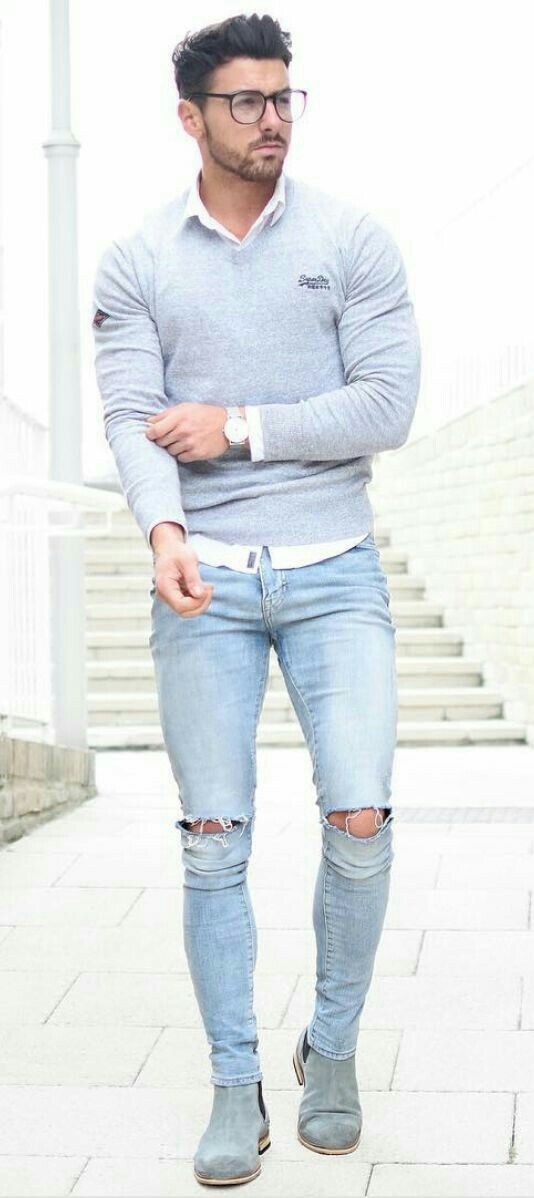Stylish Men Outfits Look With Jeans 21