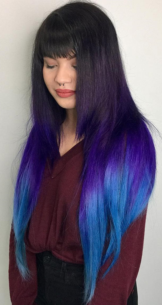 Trendy ombre hair color ideas 17