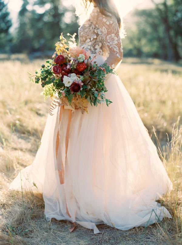 Wonderful fall bridal look 4