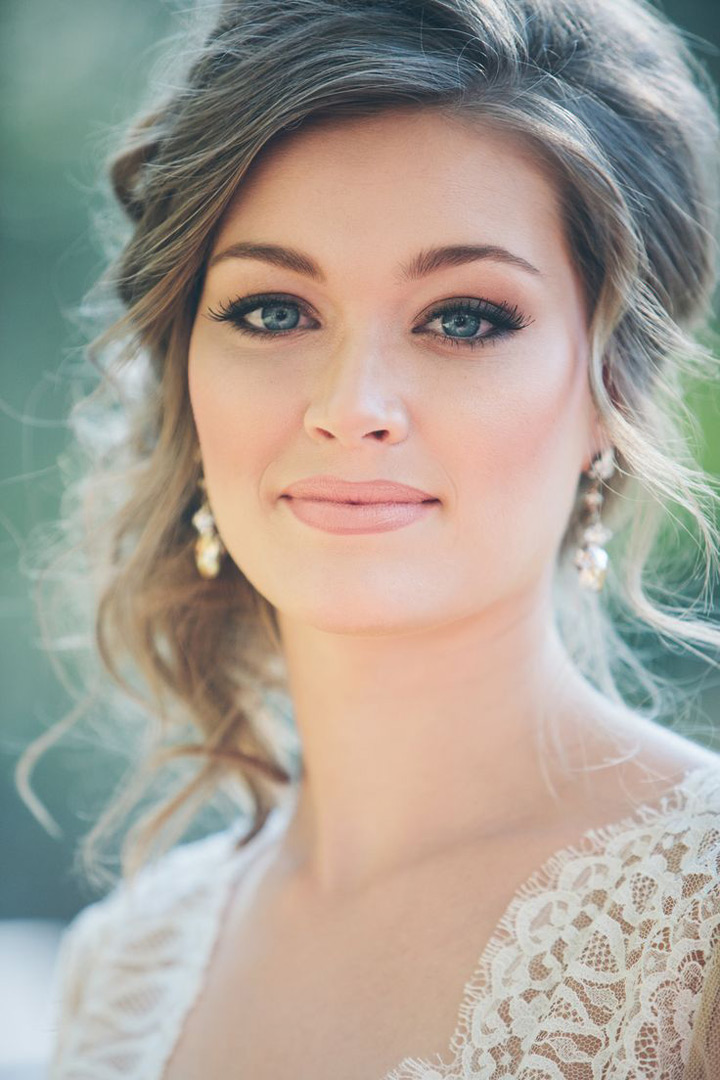 Wonderful fall bridal look