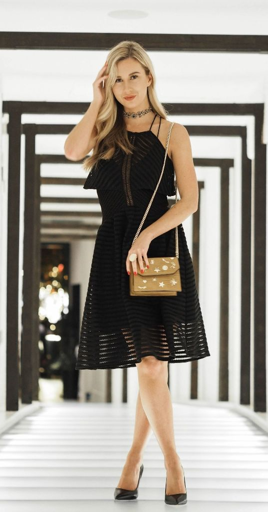 Hottest Black Dresses For Christmas Eve Party 27
