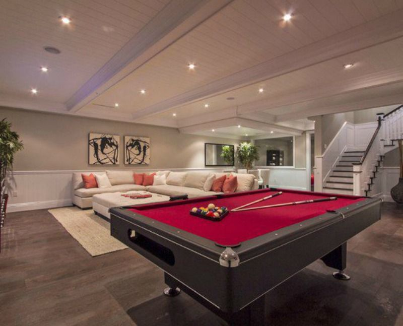 Spacious Basement Design Ideas 17