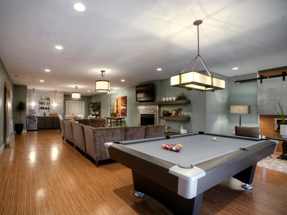 Spacious Basement Design Ideas 19