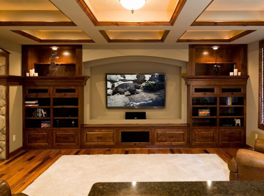Spacious Basement Design Ideas 23
