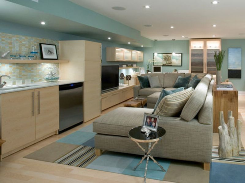 Spacious Basement Design Ideas 26