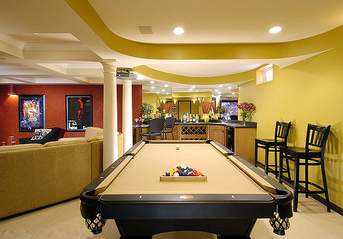 Spacious Basement Design Ideas