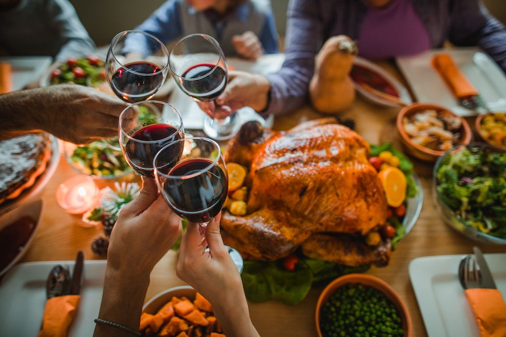 A weekend dinner with the family with the best wine to accompany