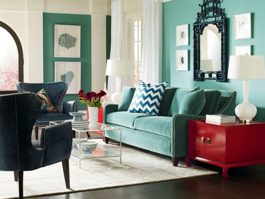 Be methodical when selecting the colors for your open space