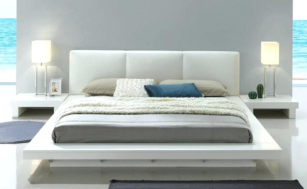 The Platform Bed Has A Low Profile
